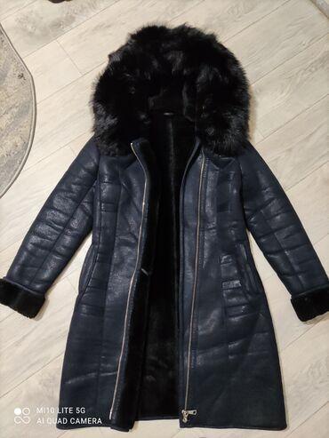 черно белое платье в пол в Кыргызстан: Дублёнка очень теплая,в отличном состоянии мех натуральный