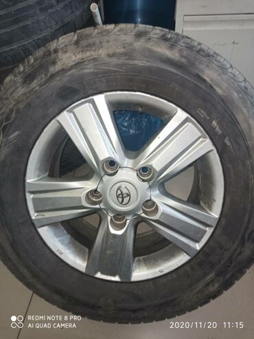 шина 22570r15c в Кыргызстан: Продаю диски с шинами(летние) комплект Dunlop Grandtrek PT3от Tayota