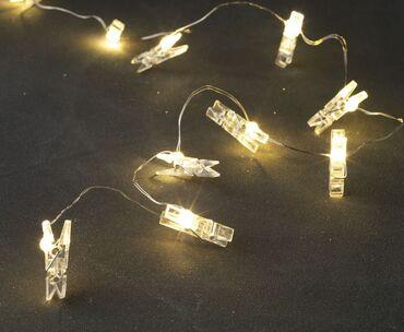 Lampe - Srbija: Lampice 10 led.--oblik stipaljke. Dužina: 150 cmAko zelite da porucite