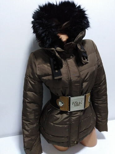 ZARA BASIC vrhunska perjana duža jakna sa velikom kapuljačom,prelep