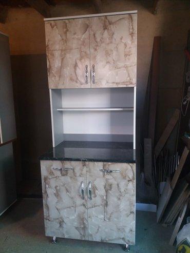 В наличиии на заказ кухонный шкаф(буфет) размер: ширина 0. 80#1. 90 вы в Бишкек