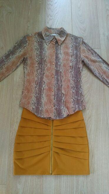 KompletKošulja vintidž, kvalitetna, tri četvrt rukavi,suknja M