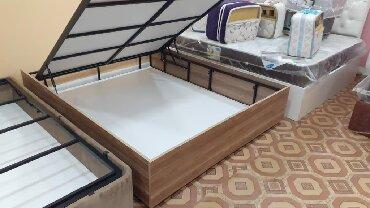 шикарная кровать в Азербайджан: Bazali carpayi.orginaldir.istenilen rengde hazirlanir.matrasla