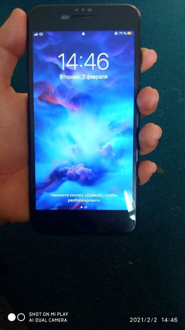 iphone 7 plus цена бу в Кыргызстан: IPhone 7 Plus 128 ГБ Черный (Jet Black)