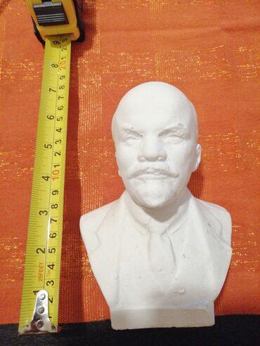 Γύψινη κεφαλή Λένιν. Ύψος 15 εκατοστών