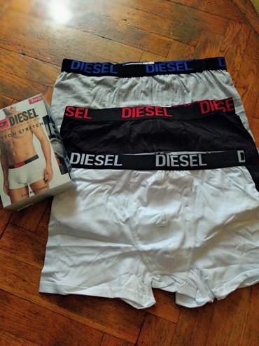 Muske bokserice - Srbija: Diesel pamucne bokserice vrhunskog kvaliteta.u pakovanju se nalazi tri