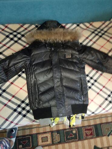 верхняя одежда недорого в Кыргызстан: Пуховик(внутри пух перьевой натуральный)6-7-8 лет зависит от