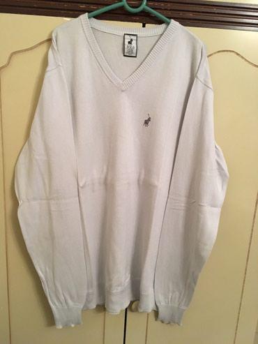 Odličan polo dzemper, svetlo sive boje, L velicina, 100% cotton. - Belgrade