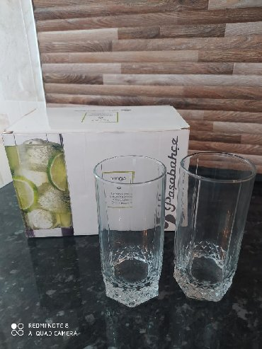 Стеклянные стаканы - Кыргызстан: Продаю турецкие стаканы. 6 штук. Б.у