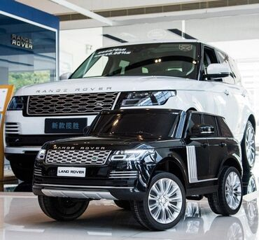 Детские машинки электромобили - Кыргызстан: Детская машинка электромобиль Range Rover Black (Limited