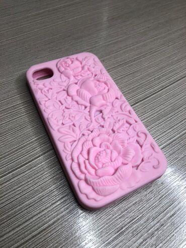 Чехол для iPhone 4Новый качественный.Цвет розовый.Доставка по городу