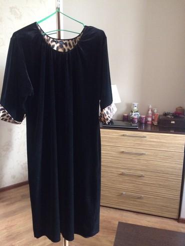 Платья в Ат-Башы: Бархатное платье. Турция в отл.сост. Размер на 48-50. 2000с