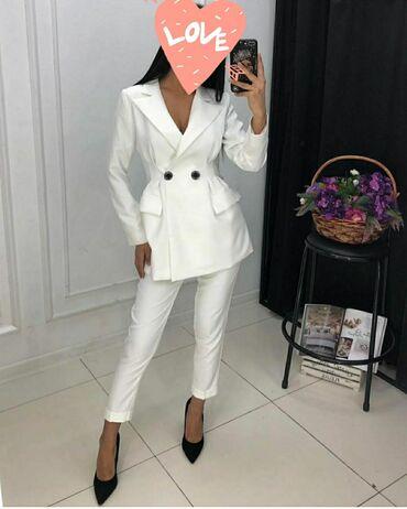Шикарная двойка  Белоснежный пиджак и брюки Состояние идеальное  Разме