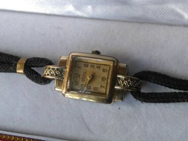 ORMO Χρυσό Ρολόι του 1923 Art Deco,antic χρυσομαύρο κορδόνι βραχιόλι
