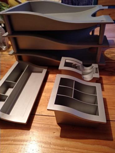Сканеры пзс ccd глянцевая бумага - Кыргызстан: Продаю немецкий фирменный органайзер для офиса серого цвета из