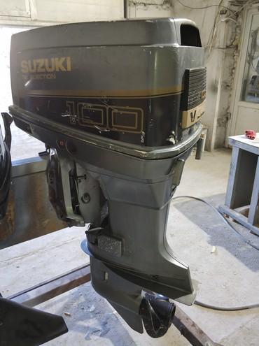 Водный транспорт - Кыргызстан: Лодочный мотор Suzuki DT100 2x-тактный, Нога L (508) Гидроподъём