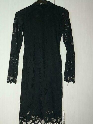 Din haljina - Srbija: Crna cipkana haljina H&M S velicina. Jednom nosena 1200 din