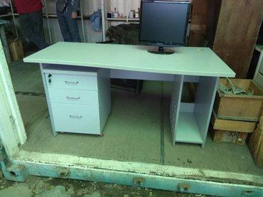 шредеры 12 14 на колесиках в Кыргызстан: Новый стол компьютерный, столешница с изгибом, размеры 140/70 см, тумб