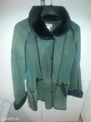 Kozna-jakna-br-laura-sctt - Srbija: Zelena kozna jakna od prevrnute koze. Sa crnim krznom br 40do42. Mslo