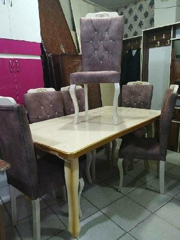 Ev və bağ Xırdalanda: Masa ve oturacaqlar yeni geldi acilandi stol temiz fistiq aqacindandir