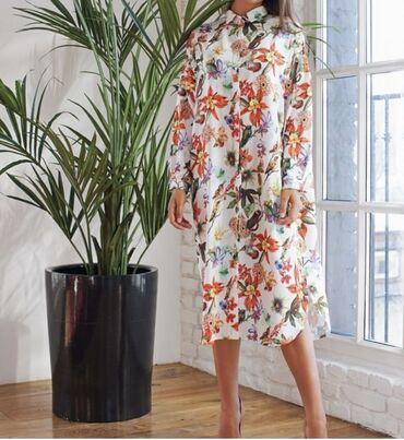 Платье рубашка Roppongi поясок в комплекте размер oversize