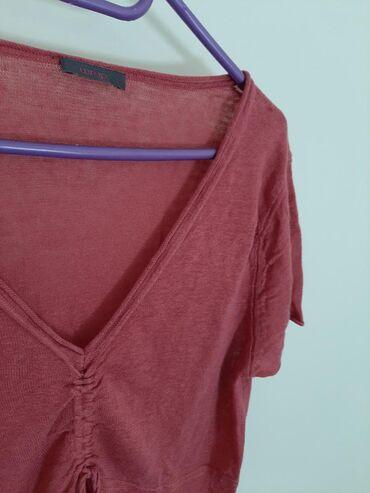100% Linen WRAP bluzica sa V izrezom. Vel M