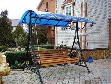 Садовая мебель в Кыргызстан: Делаем садовые качели из профильной трубы самостоятельно. Наглядная