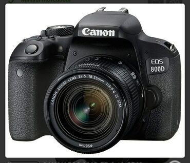 canon powershot a2200 is в Азербайджан: CANON EOS 800D EF-S 18-55 IS STM Kit Kontakt homnan alinib 1400 ze