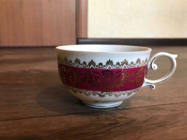 Стаканы - Кыргызстан: Чашка с блюдцем от мадонны состояние отличное