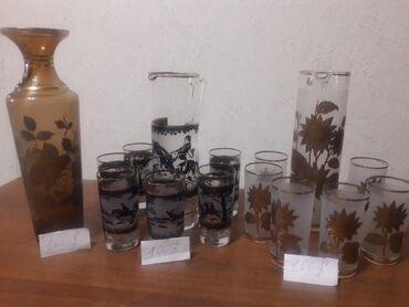 """today набор в Кыргызстан: Продам антиквариат набор кувшин и шесть стаканов """" богема"""" каждый . Т"""