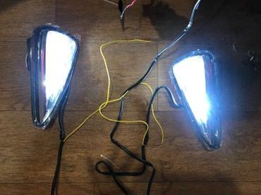 фун в Кыргызстан: ДХО в передний бампер для Камри 55, полносьтю стекло с функцией