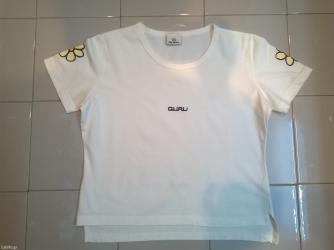 Προσωπικά αντικείμενα - Αθήνα: Μπλούζα λευκή guru, 100% cotton, μέγεθος Μ  Σε άριστη κατάσταση