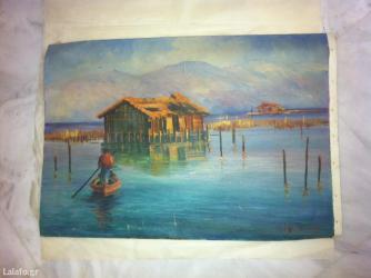 Ζωγραφισμένος canvas χωρίς κορνίζα όπως φαίνεται στην φωτογραφία