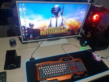 процессоры amd в Кыргызстан: Компьютер для игр дизайна 3d .Монитор : Aoc стильный белый монитор на