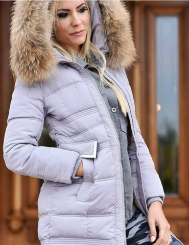 Nova jakna sa prirodnim krznom xl velicina u sivoj boji, a xl i xxl u - Crvenka