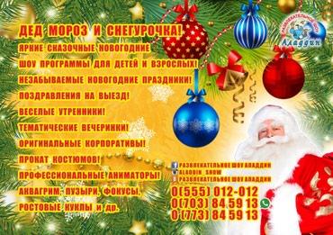 Новогодние шоу программы для детей и в Бишкек