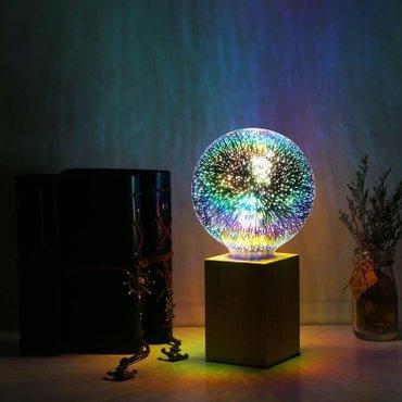 Bakı şəhərində 4w e27 led 3d creative rengereng lampa ateshfeshanliq effekti verir