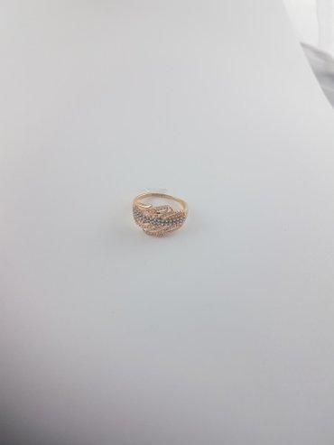 Кольца из красного золота 585проба Вставка циркон Размер кольца 20 в Бишкек