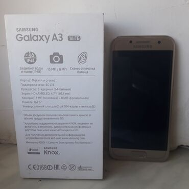 Samsung-j3 - Ленкорань: Б/у Samsung Galaxy A3 2017 16 ГБ