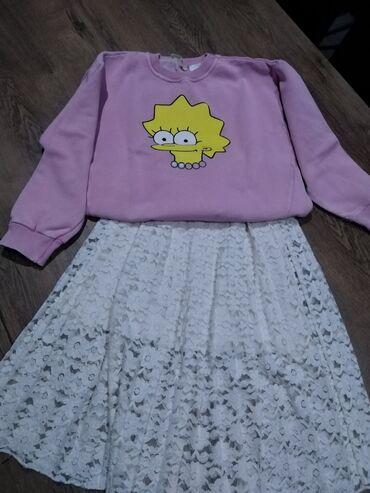 Dečija odeća i obuća - Nova Pazova: Suknja Zara kids vel 8, duks Zara kids vel 8 iz kolekcije Simpson