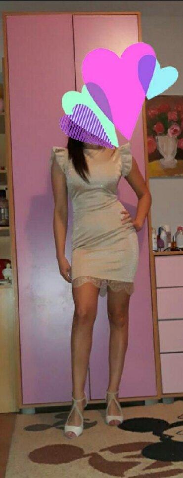 Kaput-fervente - Srbija: Haljina Fervente vel.36 zlatne boje,prelepa