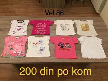 Dečiji Topići I Majice | Indija: Majice za bebe devojcice Vel. 86 (1-1,5god) 200din po kom.Bela sa