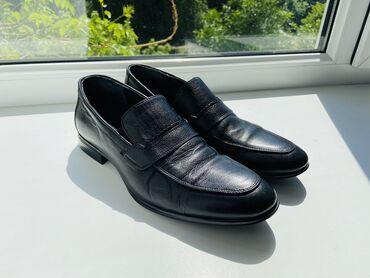 Мужские туфли 41 размера   Кожаные летние «Лоферы» 41 размера, в отли