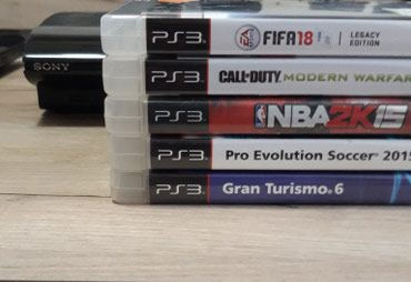Ps3 Slim 500gb +controller +5 games σε Central Thessaloniki