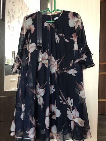 Платье корейский шифон, (длина ниже колен, рукав 3/4) отличное качеств