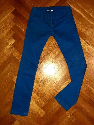 Plave pantalone - Srbija: Ženske pantalone Mango XS