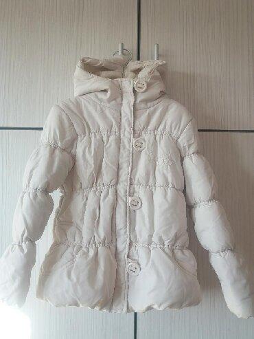 Slonovaca - Srbija: Next zimska jaknica za devojčice u boji slonovače. Veličina 128, za