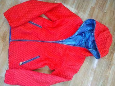 Женская двухсторонняя куртка. Лёгкая межсезонная. Размер 46-48р