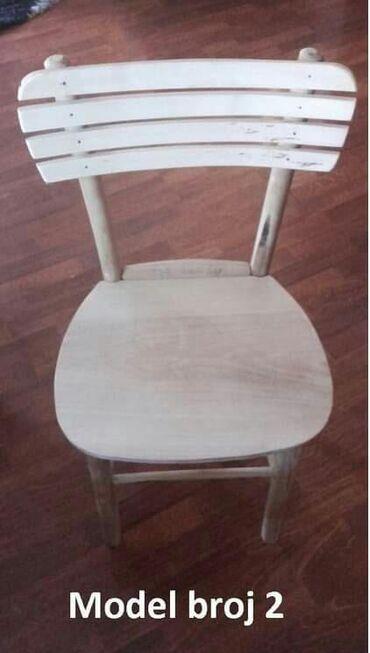 Etno stolice od bukovog drvetaTri različita modelaCena 2200 din