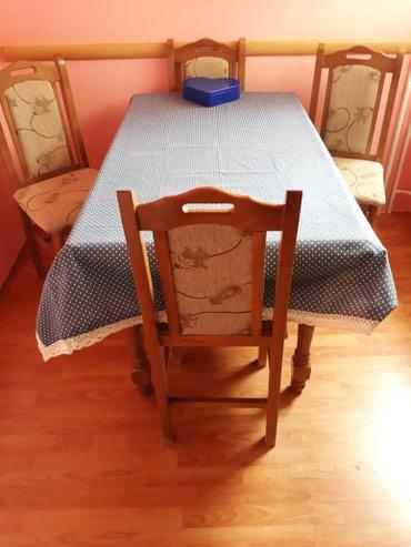 Drveni sto 135×80 + 4 stolice - Beograd